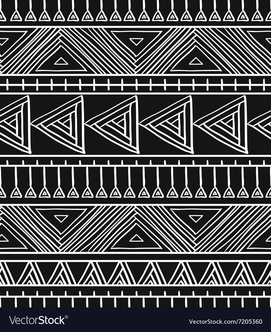Abstract geometric seamless pattern Aztec style