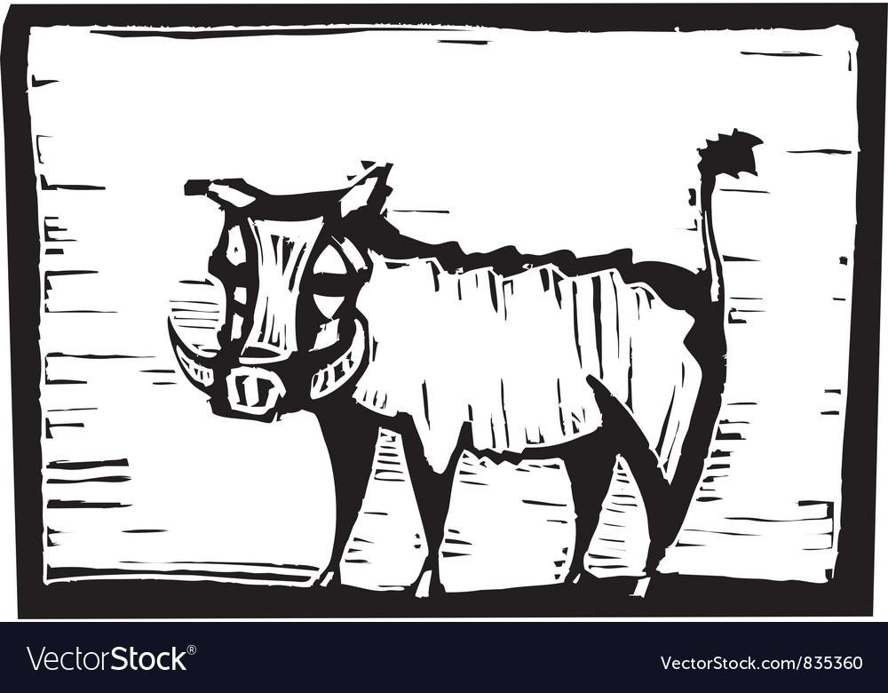Hog Print vector image