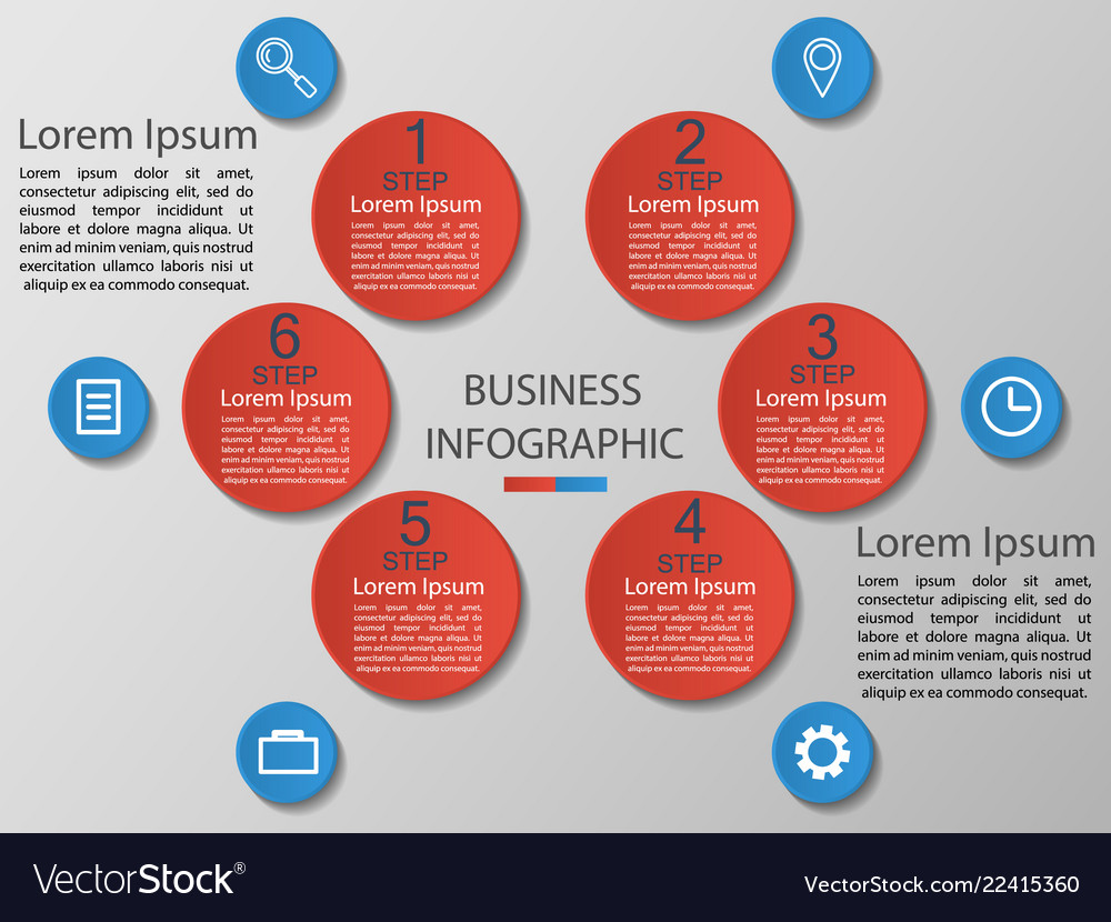 Infographics 6 options templa