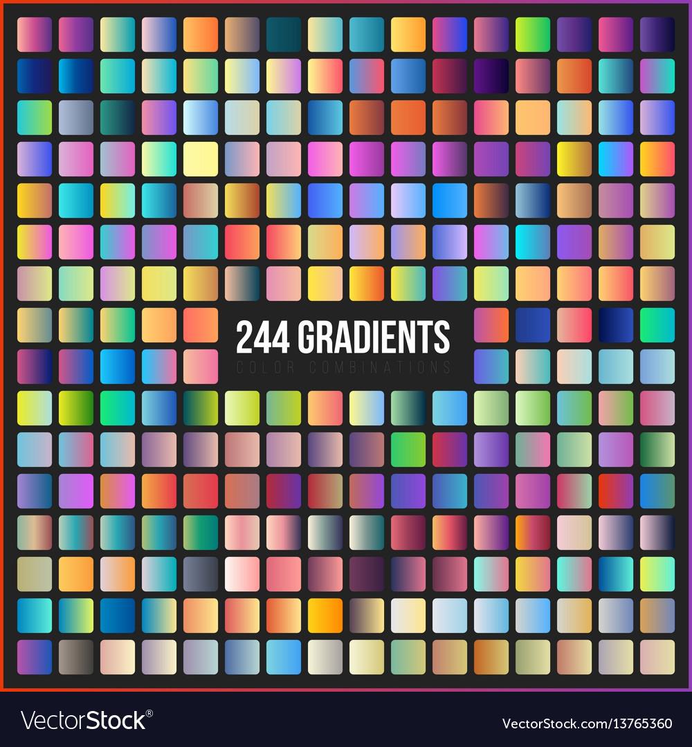 Mega set of 244 gradients