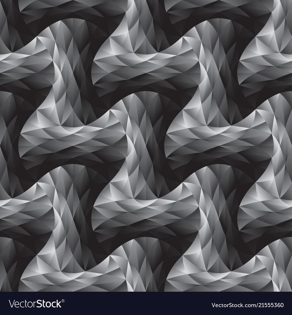 Polygon and curve geometric seamless pattern