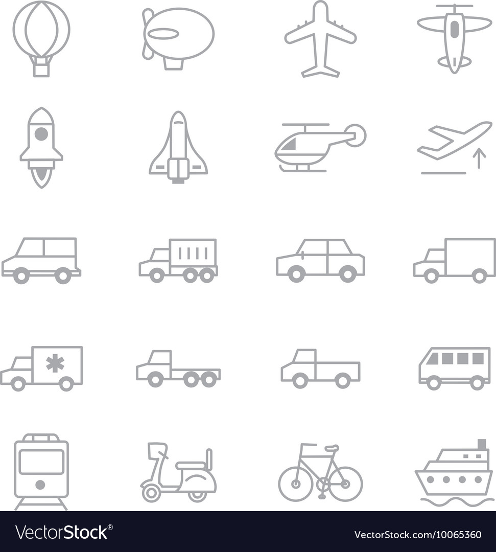 Transportation Icons Line Set Of copy