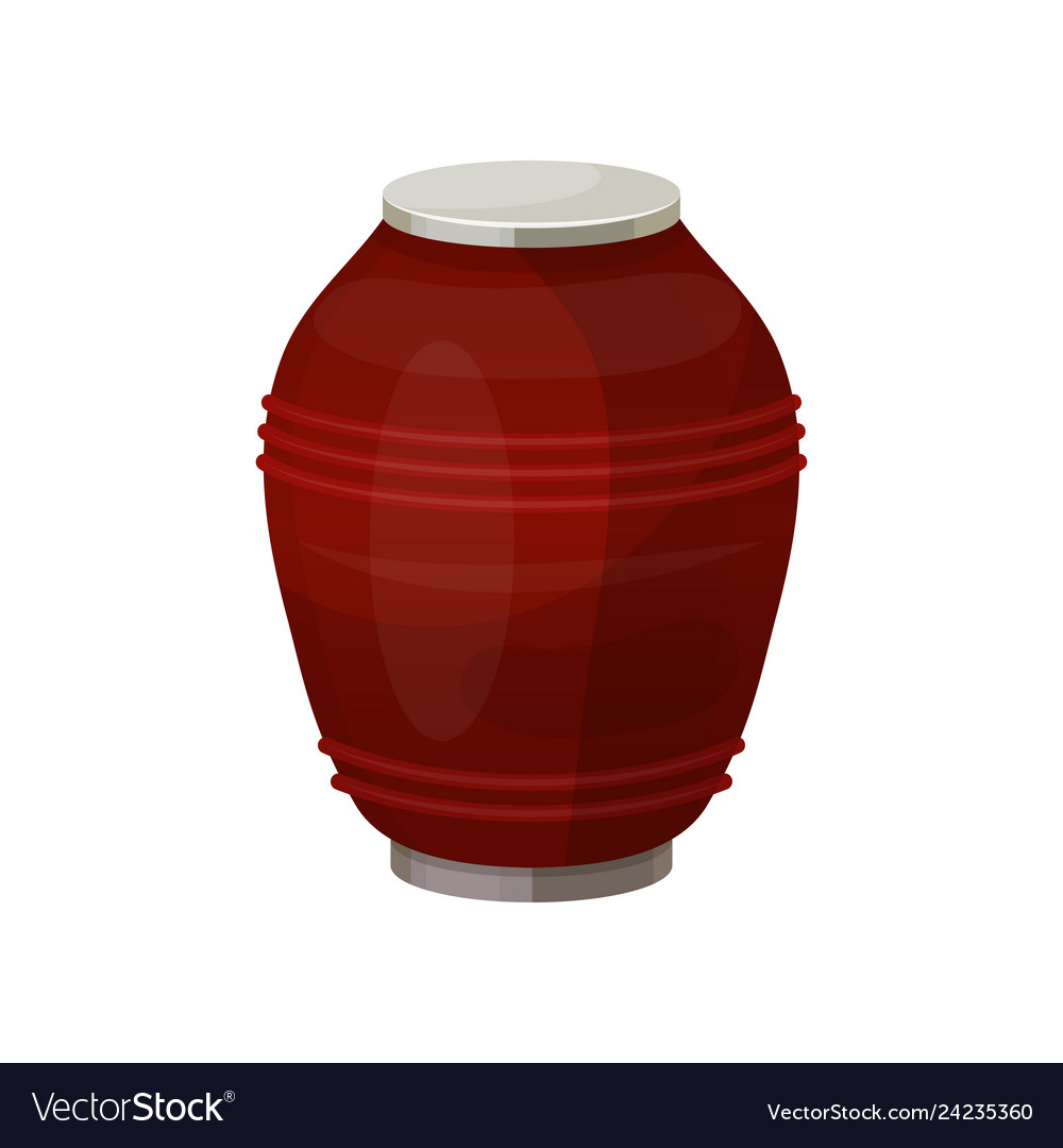 Urn for dust cremation ceremony vase icon