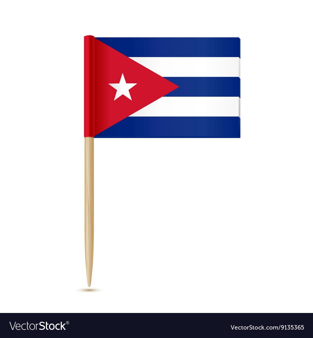 Cuba flag toothpick vector image