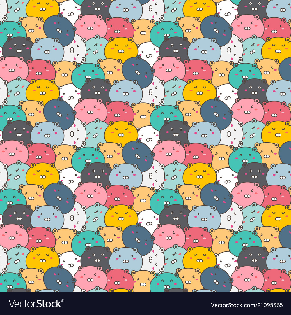 Cute bears pattern background