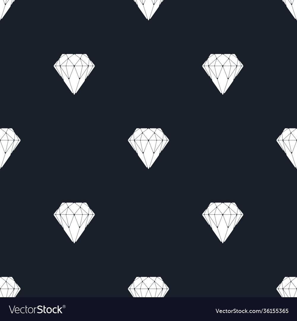 Diamond dark seamless pattern