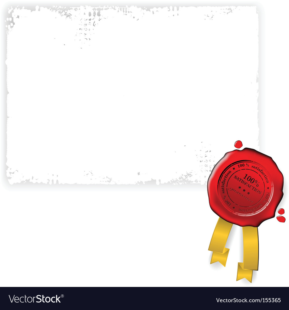 Document and seal vector image