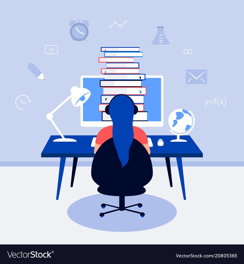E-learning online education design concept
