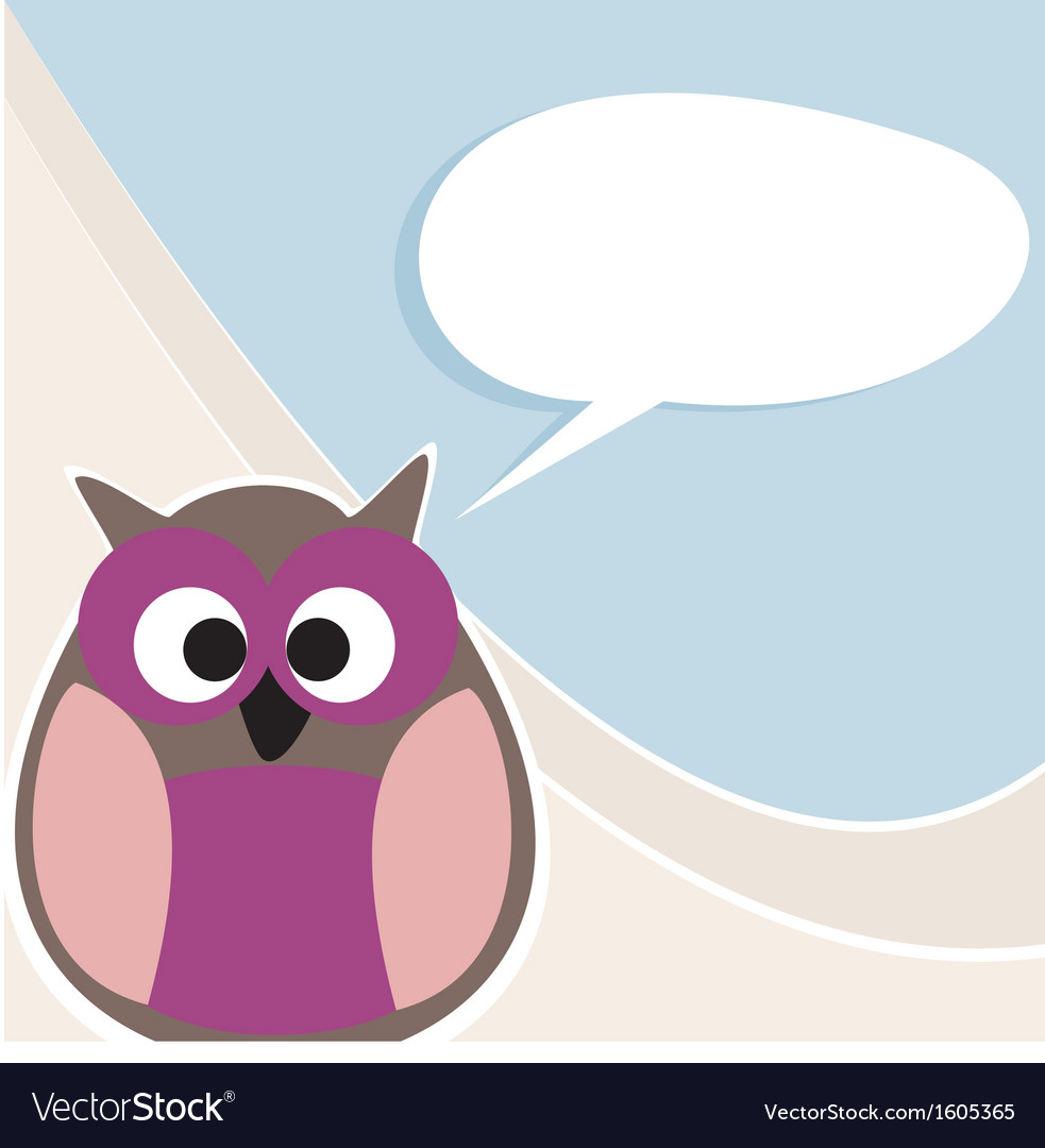 Funny owl talking teaching giving instructions