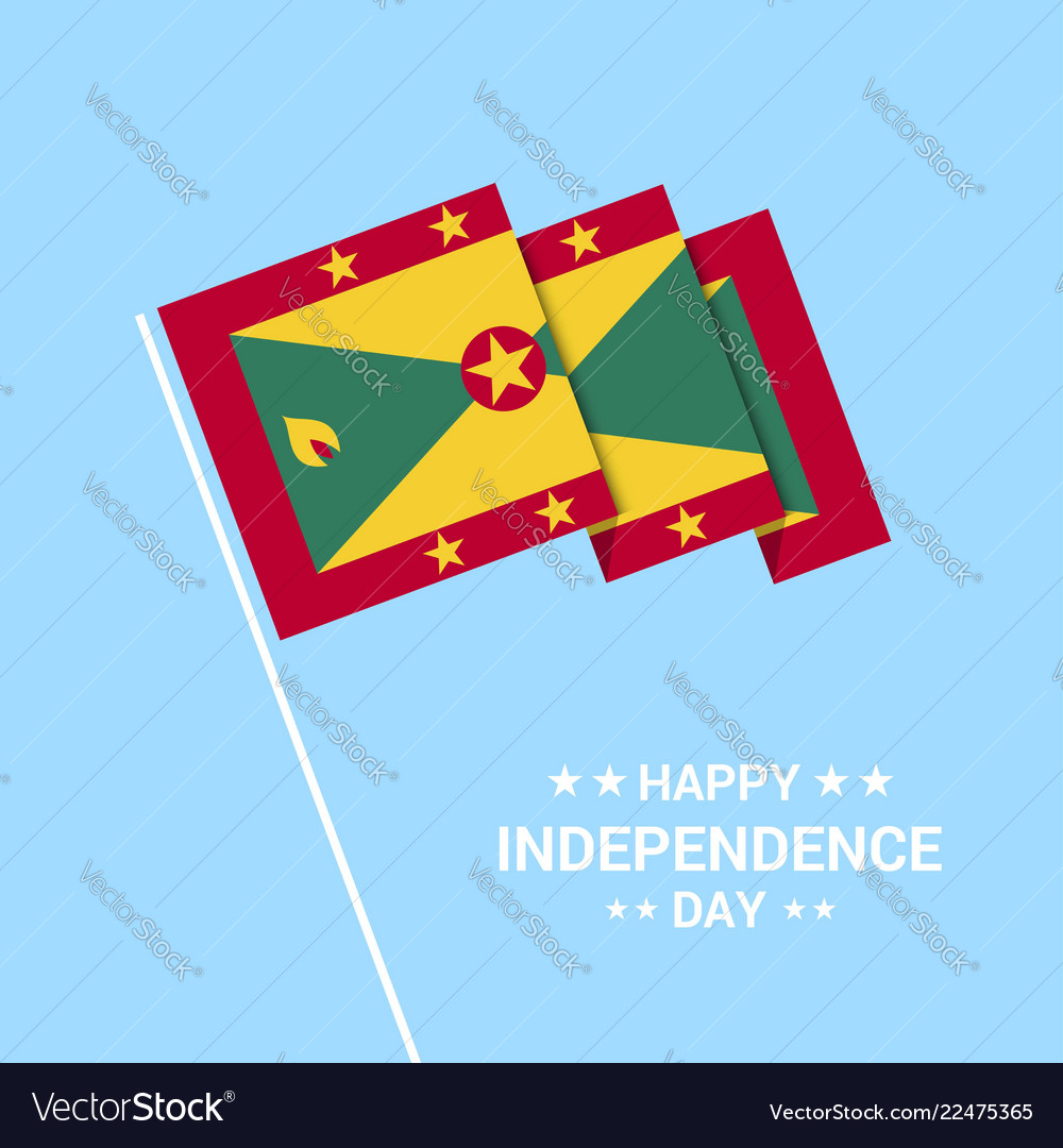 Grenada independence day typographic design with vector image