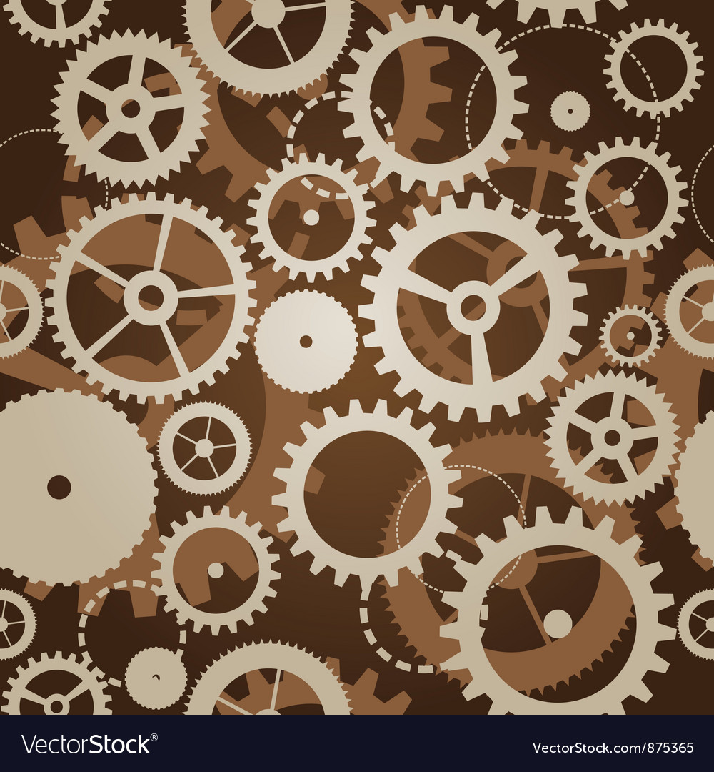 seamless pattern with cogs and gears royalty free vector
