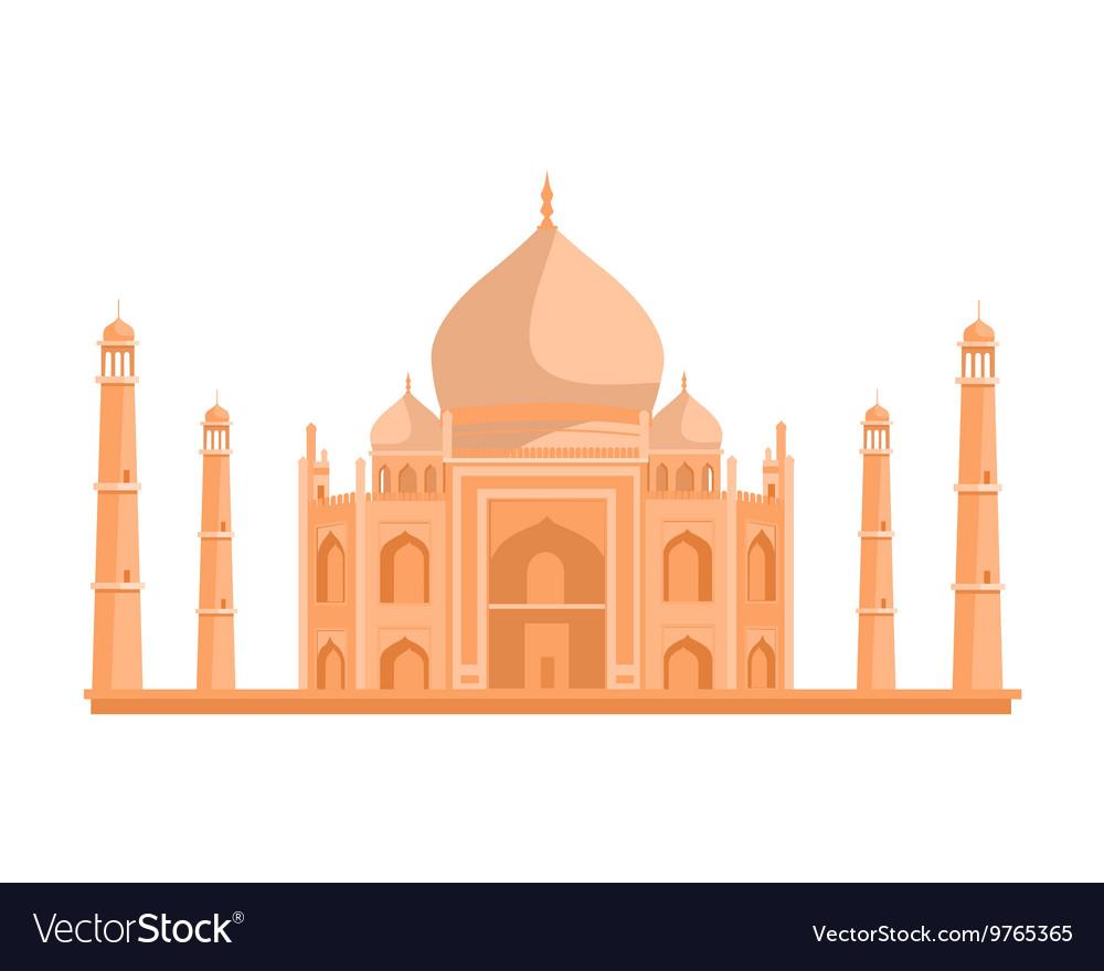 Tadj Mahal in Flat Design