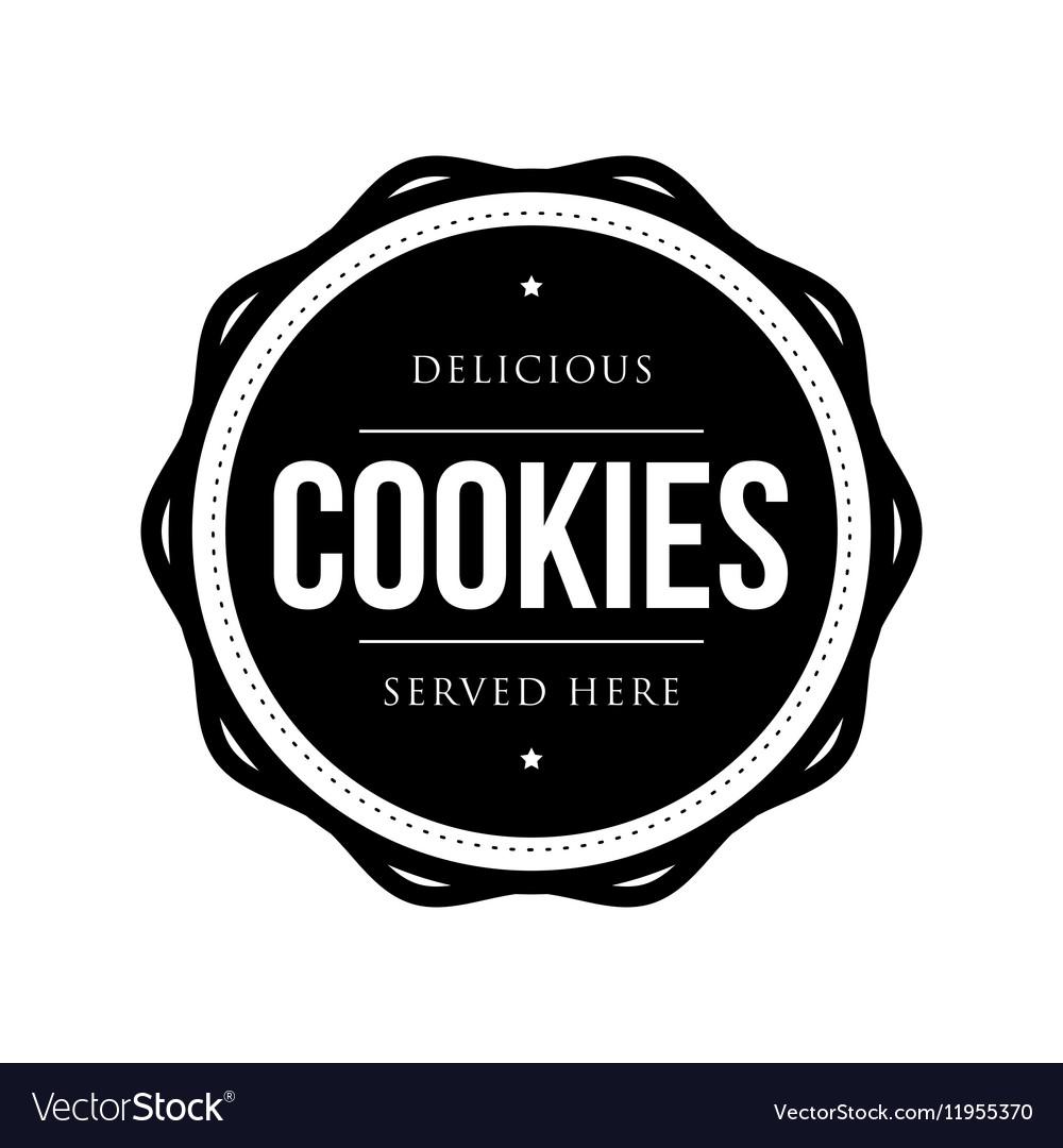 Cookies vintage stamp