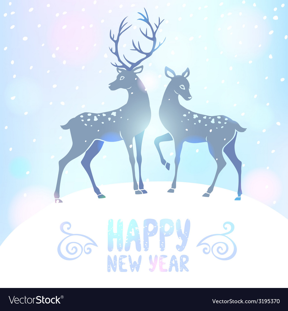 Deer silhouette new year