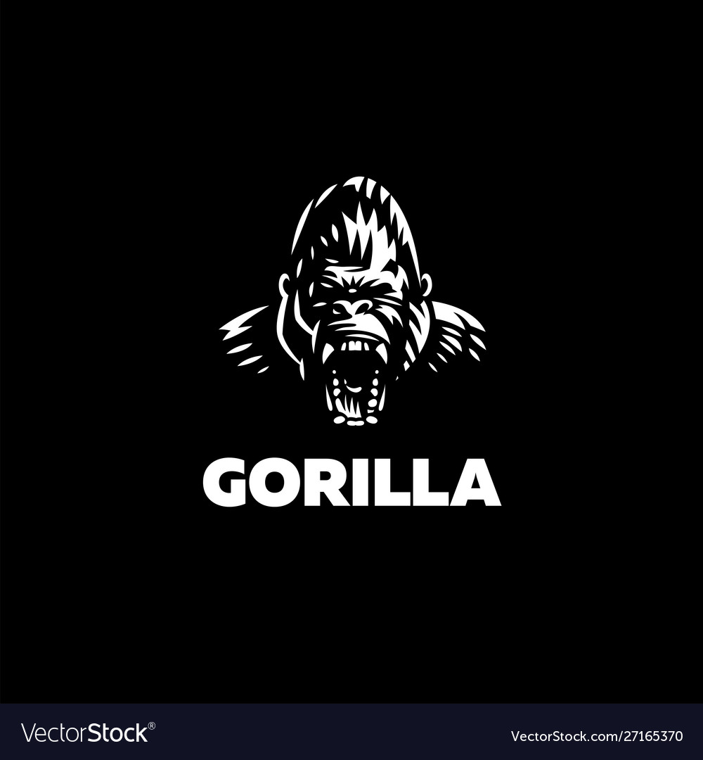 Head an angry gorilla