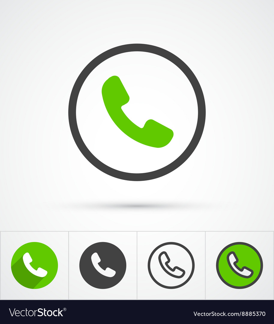 Phone in circle call icon