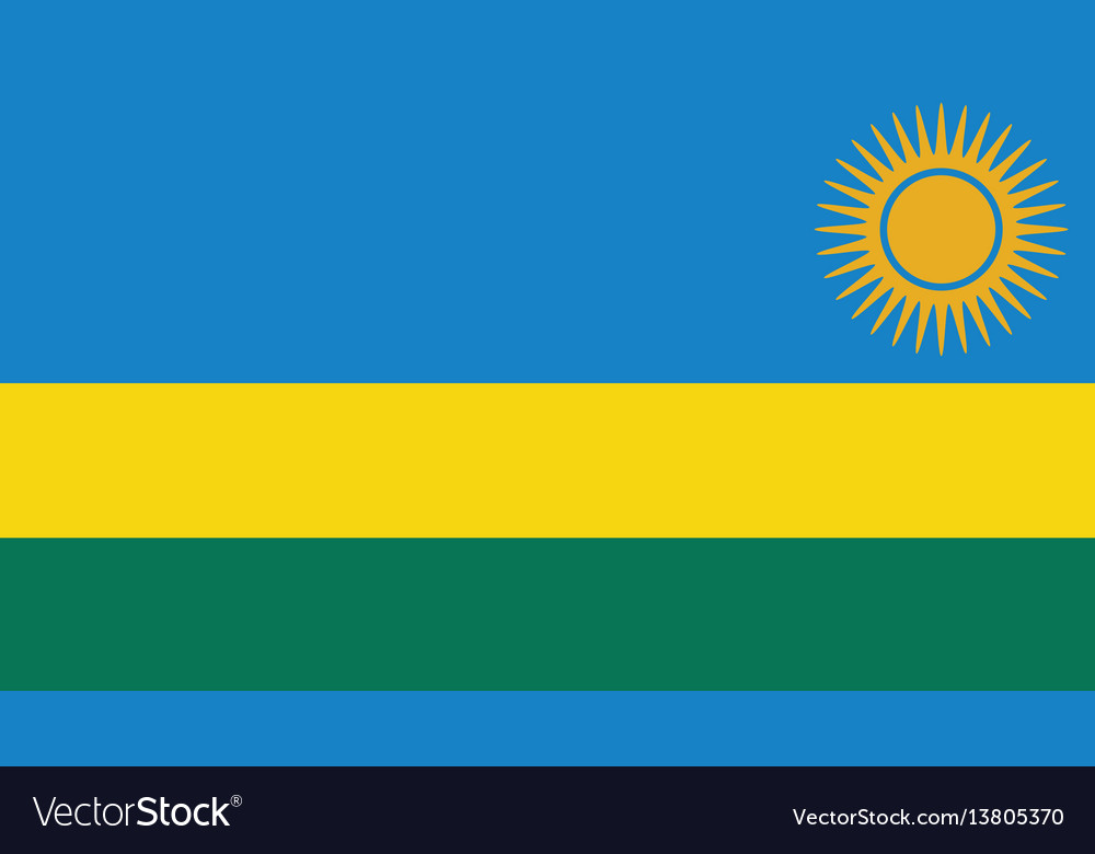 Rwanda flag for independence day and infographic vector image