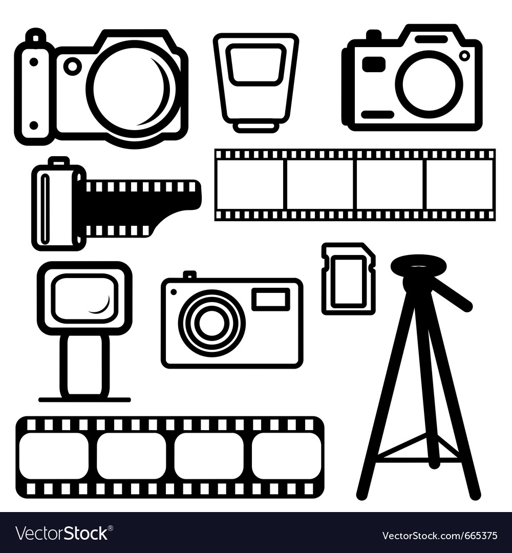 Camera design elements vector image
