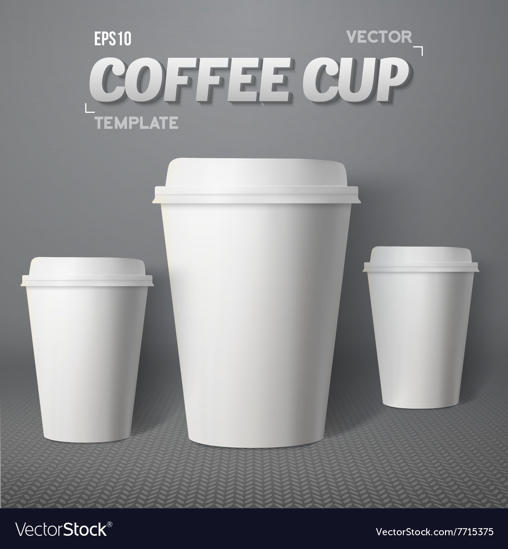 Coffee Cup Set Photorealistic 3D