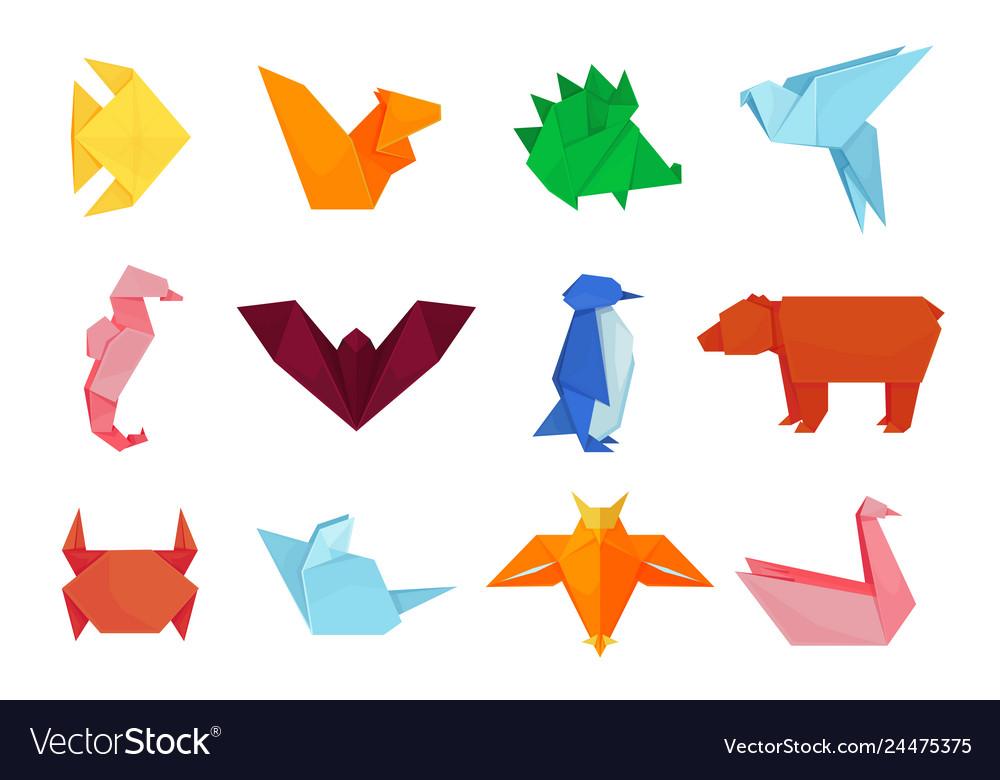 Origami animals design and paper creative toys