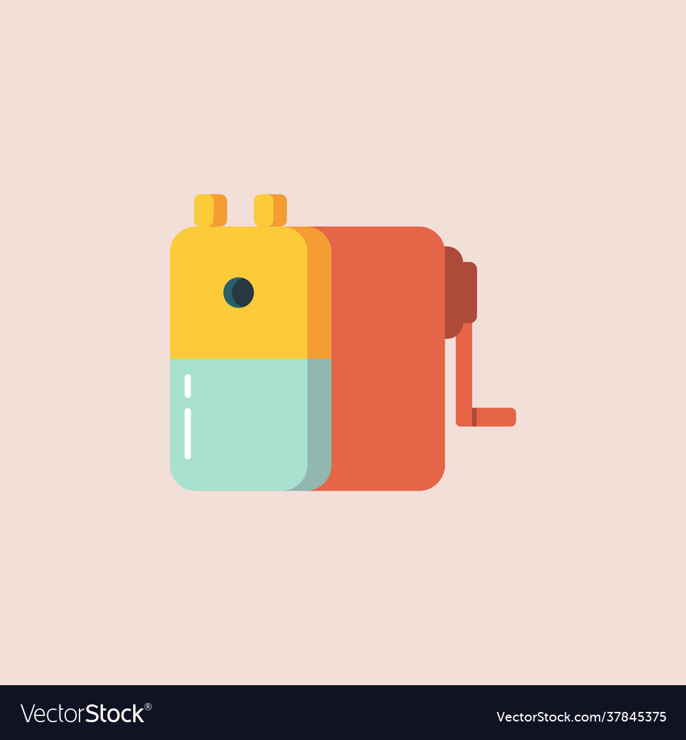 Pencil sharpener in flat style icon