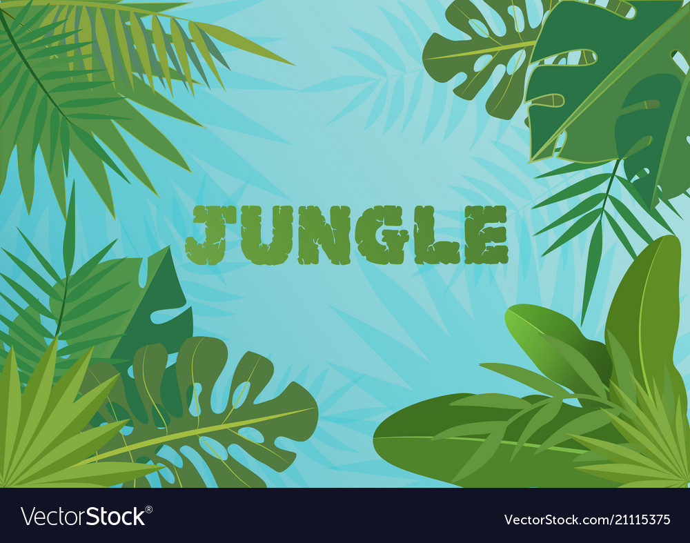 Tropical template banner