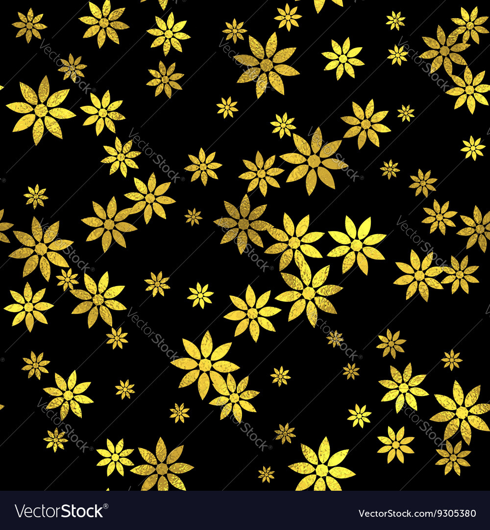 Abstract seamless pattern with gold circles
