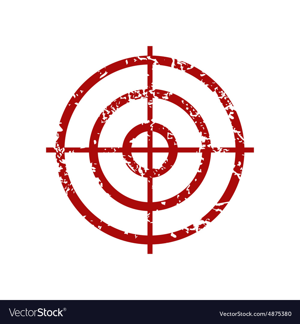 aim red grunge icon royalty free vector image vectorstock vectorstock
