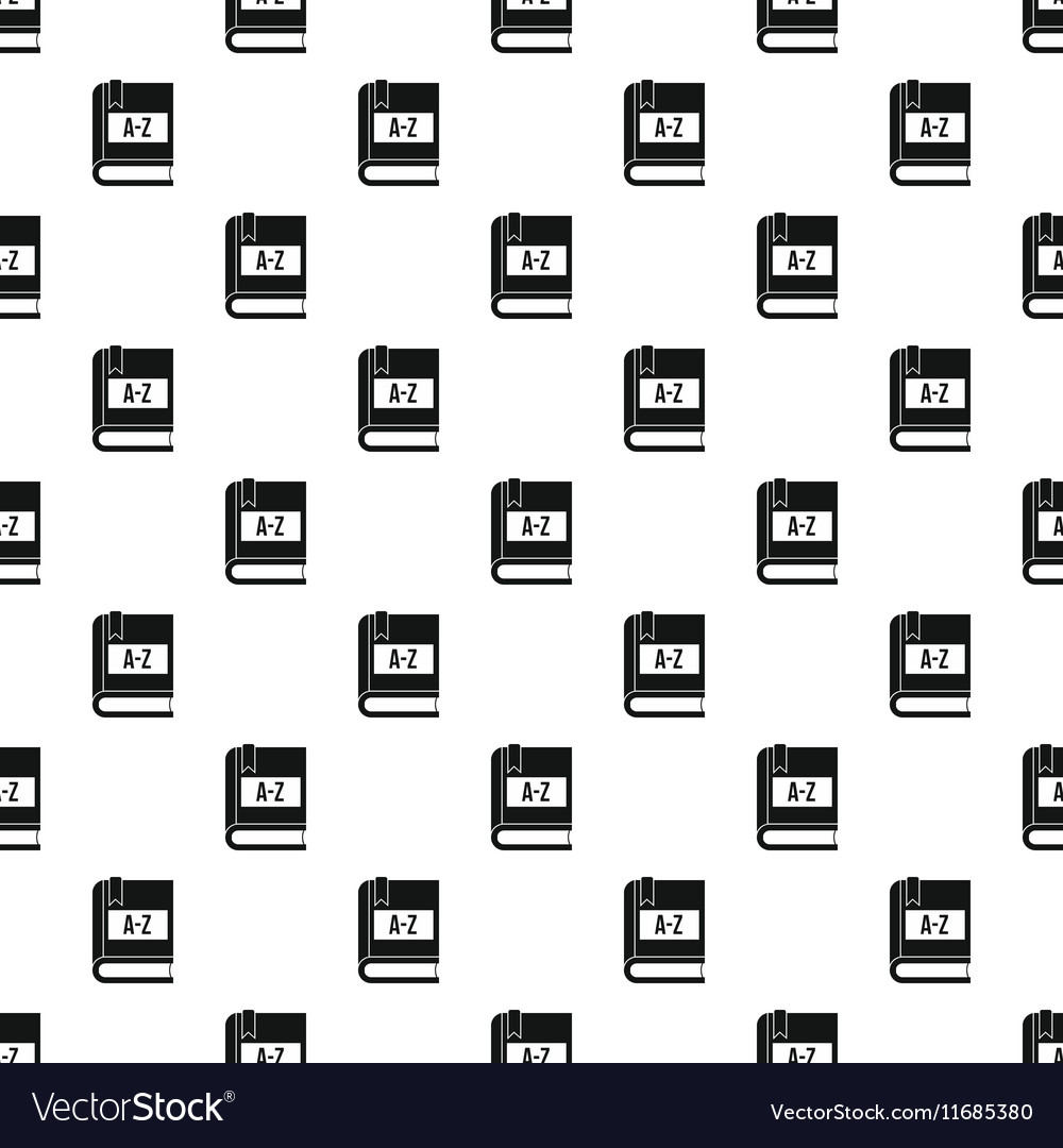Dictionary book pattern simple style vector image