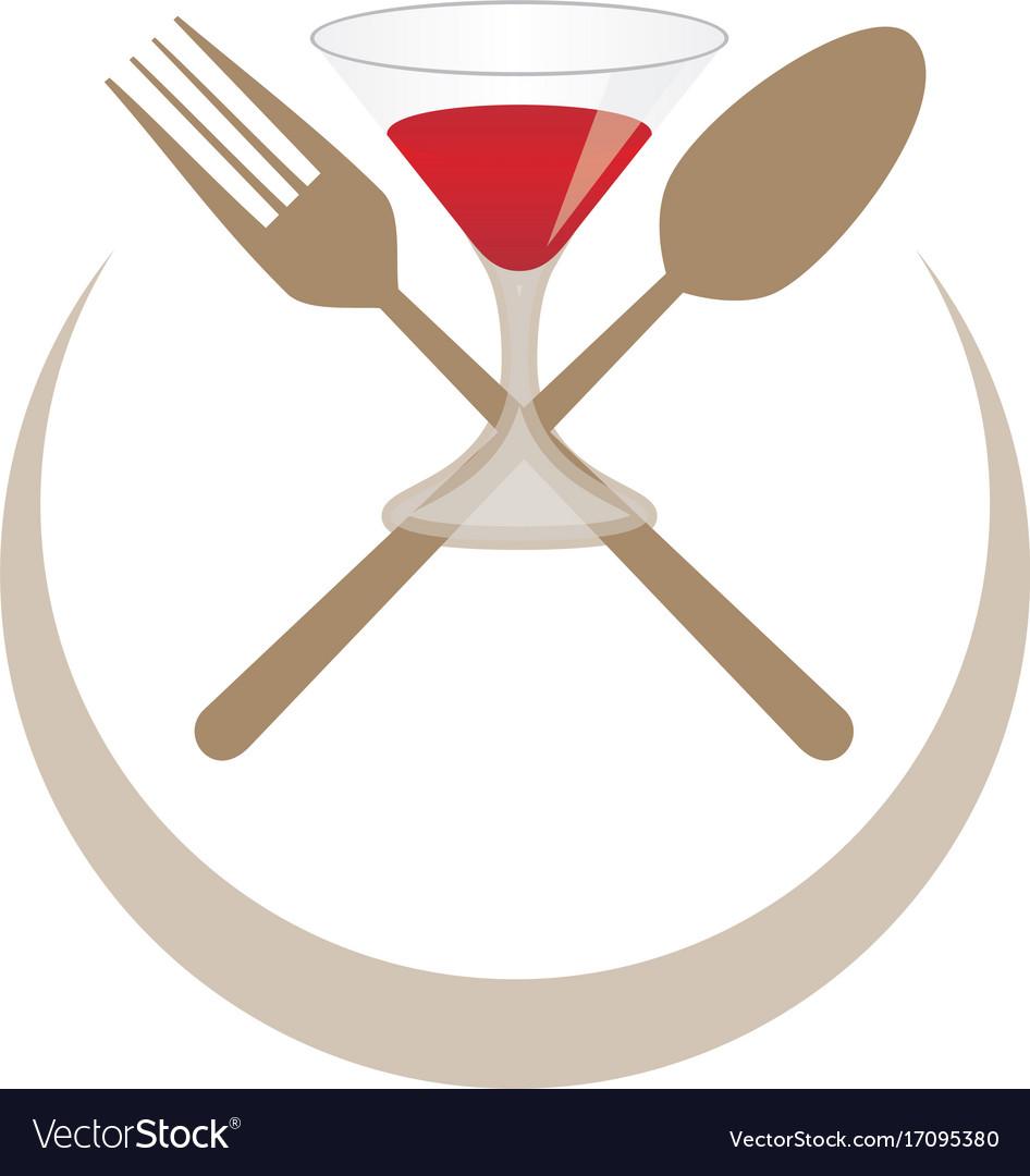 Food restaurant wine logo
