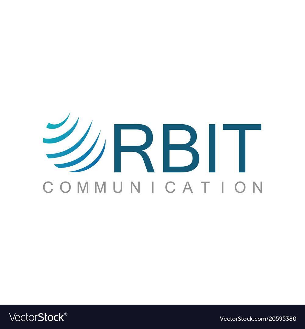 Orbit shape communication logo