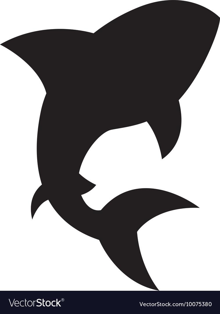 Shark signal silhouette icon
