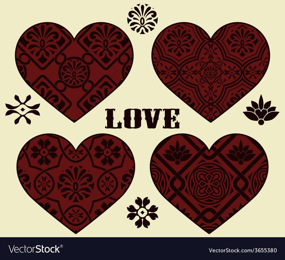 Valentines day Design Elements vector image