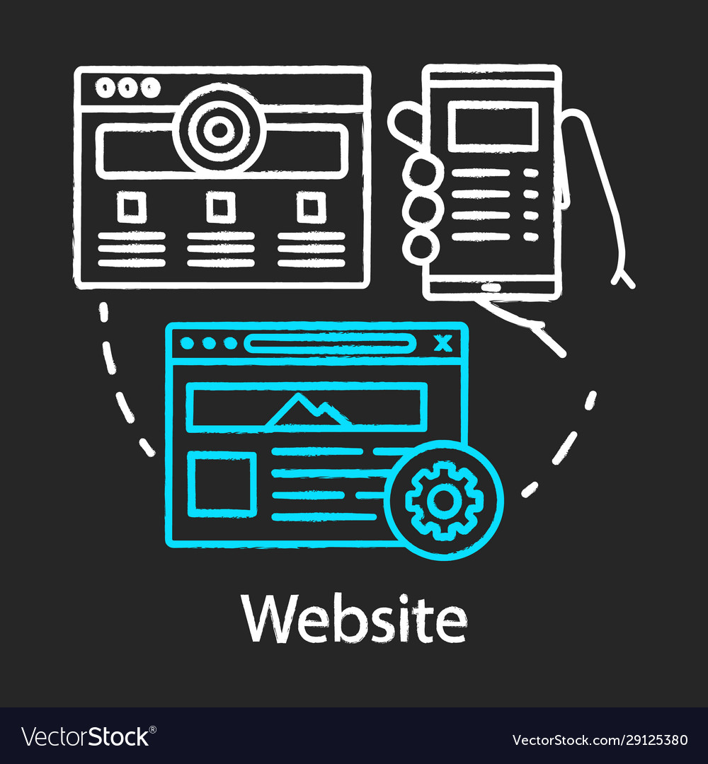 Website chalk concept icon channels for seo sem