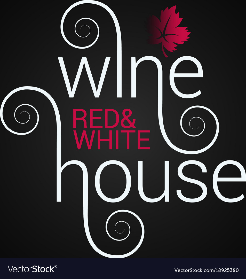 Wine logo design red and white wine label on