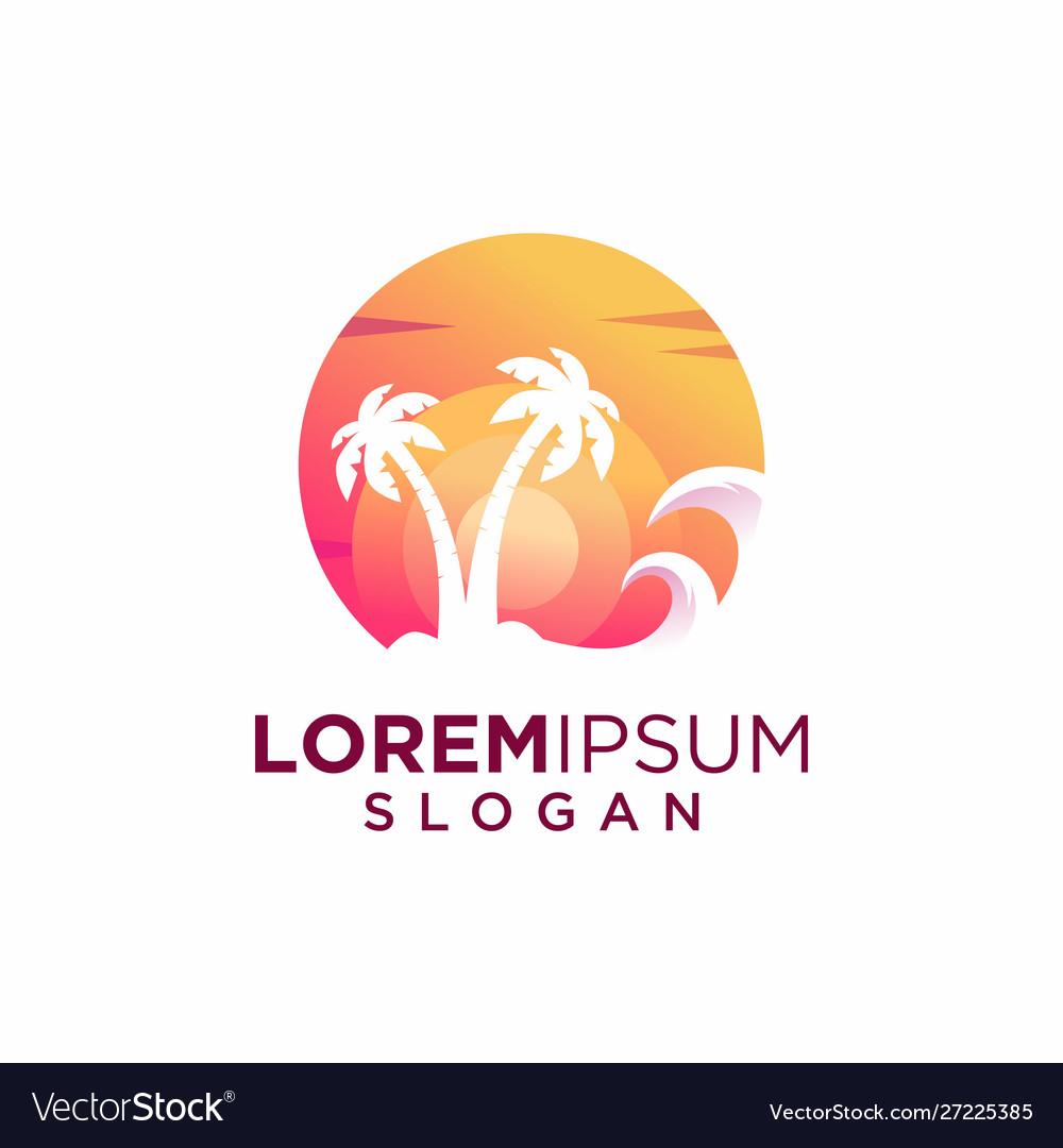 Creative sunset logo design
