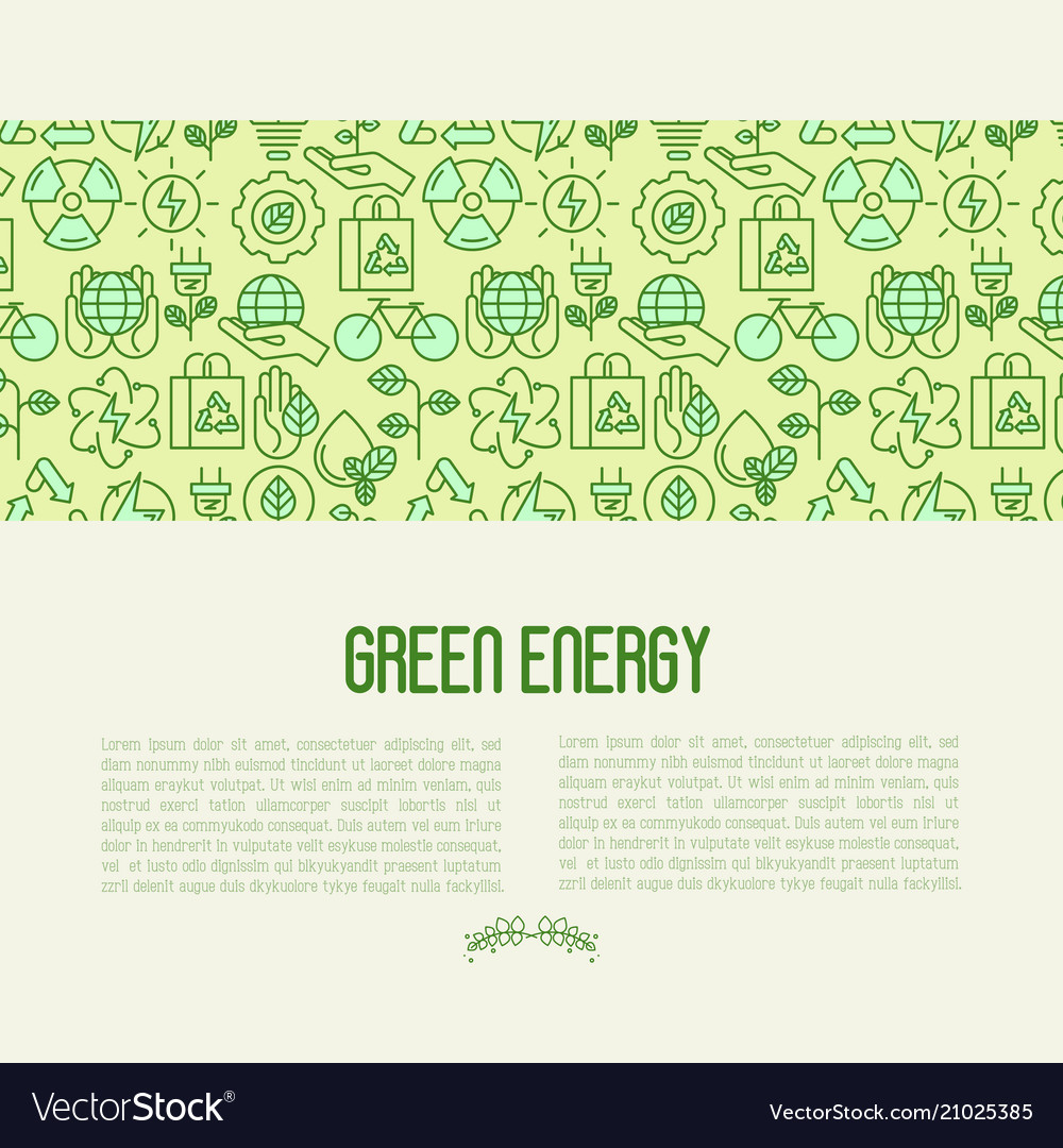 Ecology concept contains seamless pattern