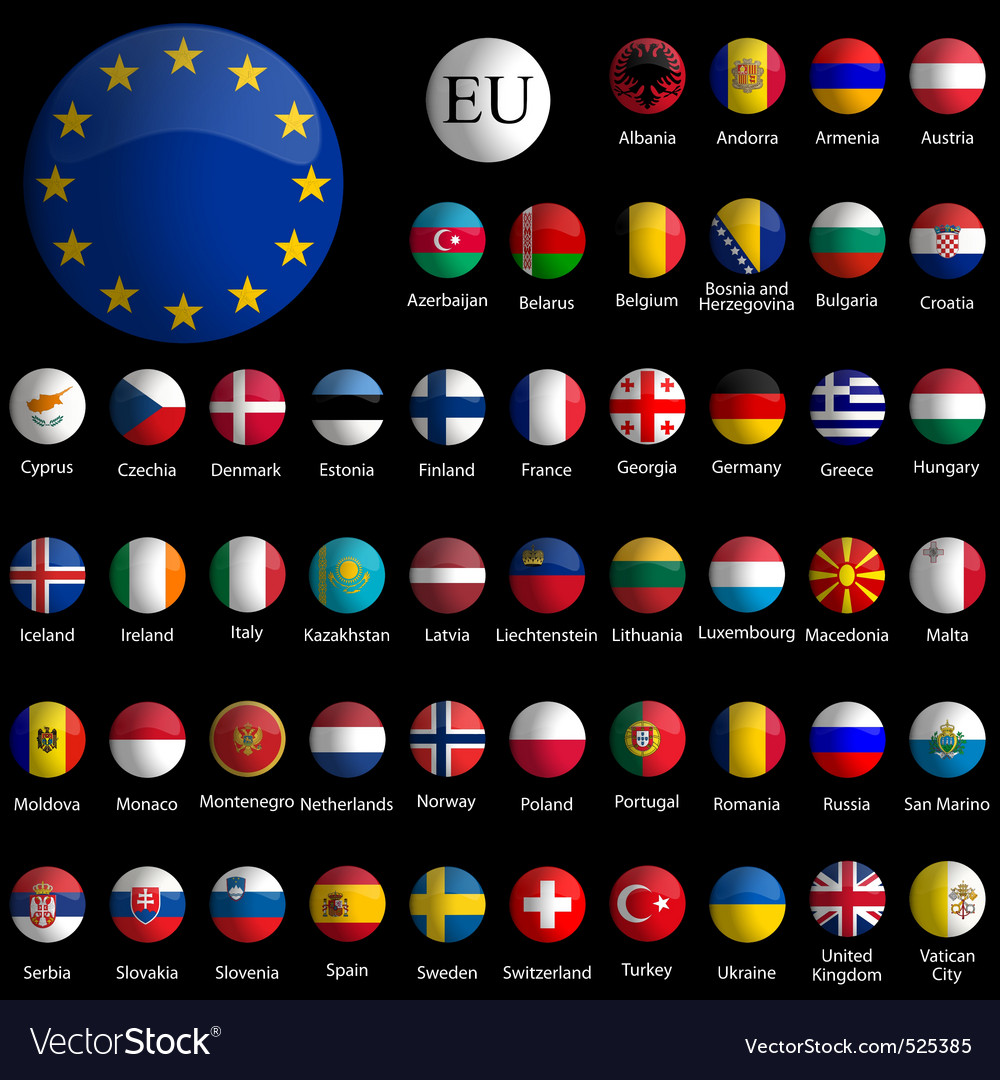 Europe icons vector image