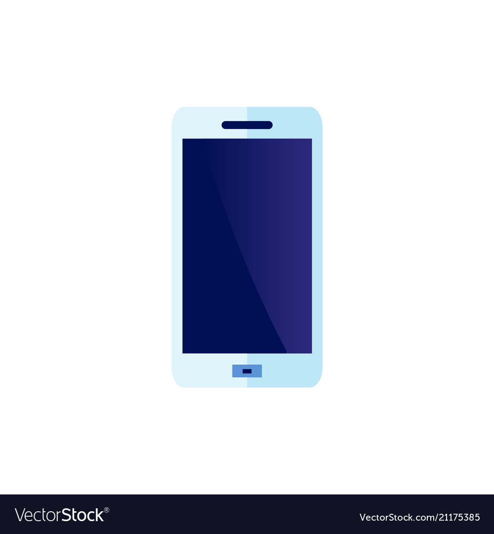 Flat smartphone blue icon