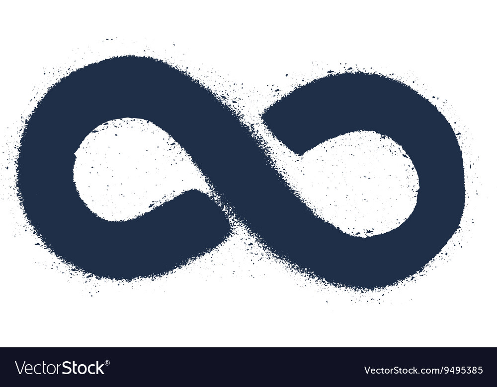 Grunge Drawing Infinity Sign Royalty Free Vector Image