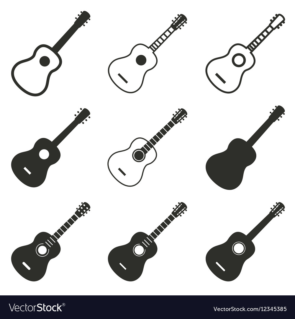 Guitar icon set
