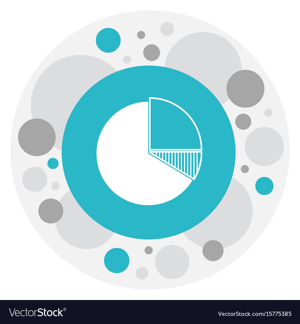 Of analytics symbol on pie vector image