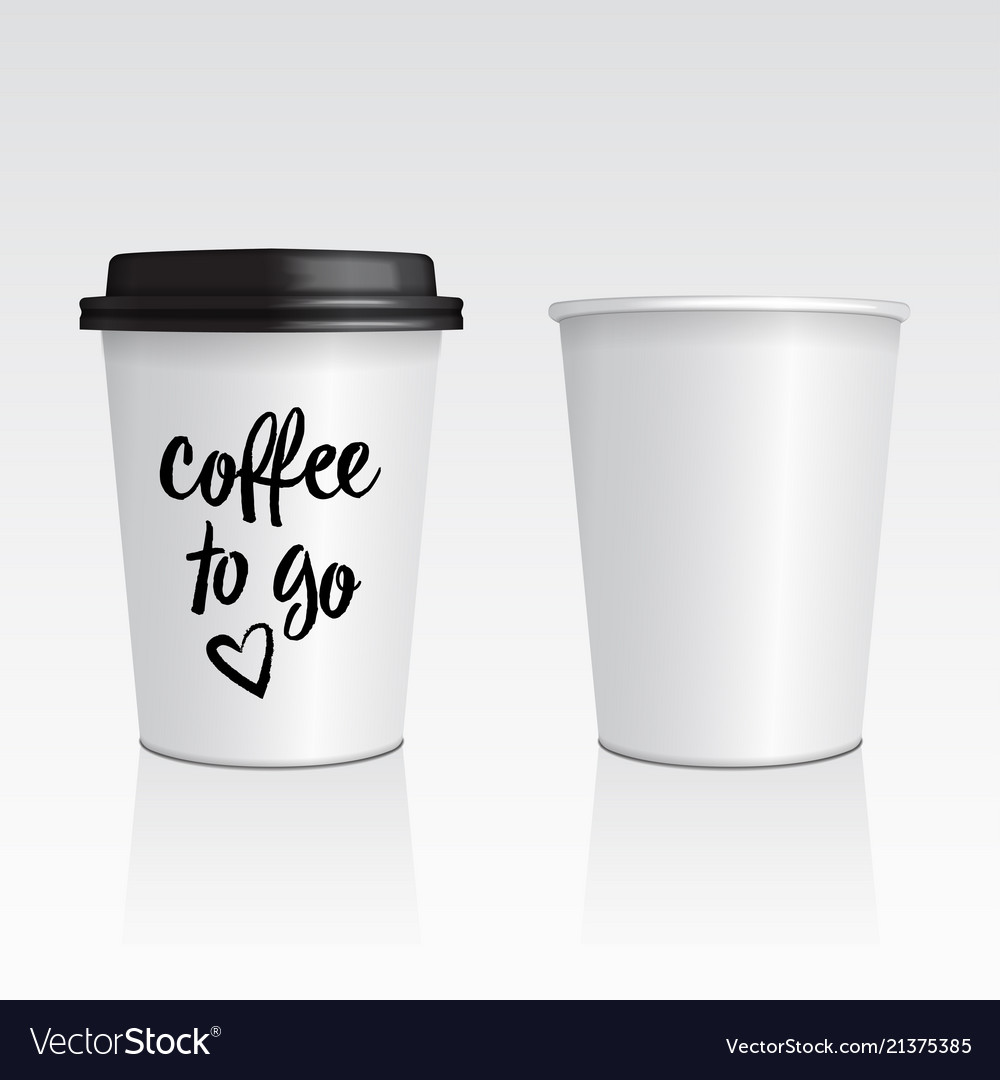 Set of realistic blank mock up paper cups