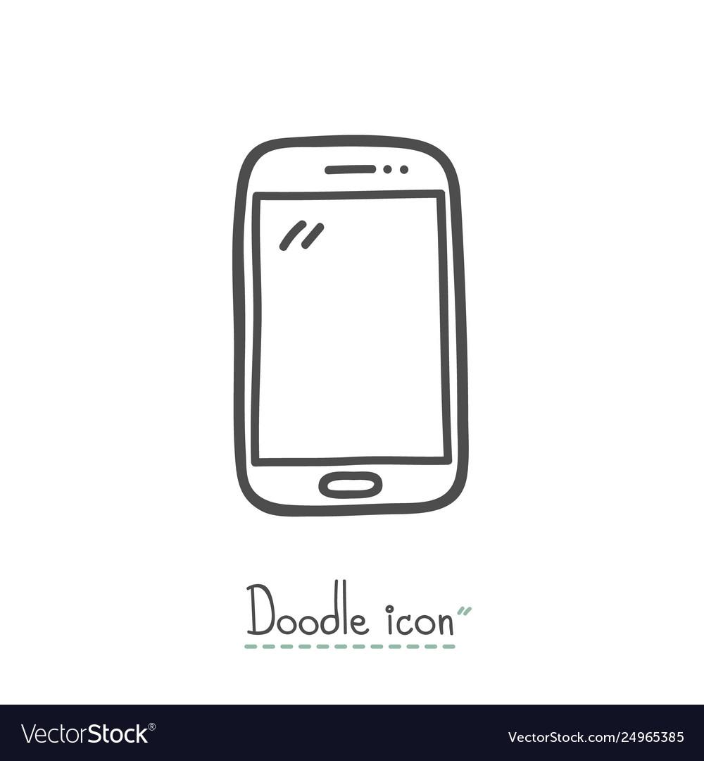 Smart phone doodle icon