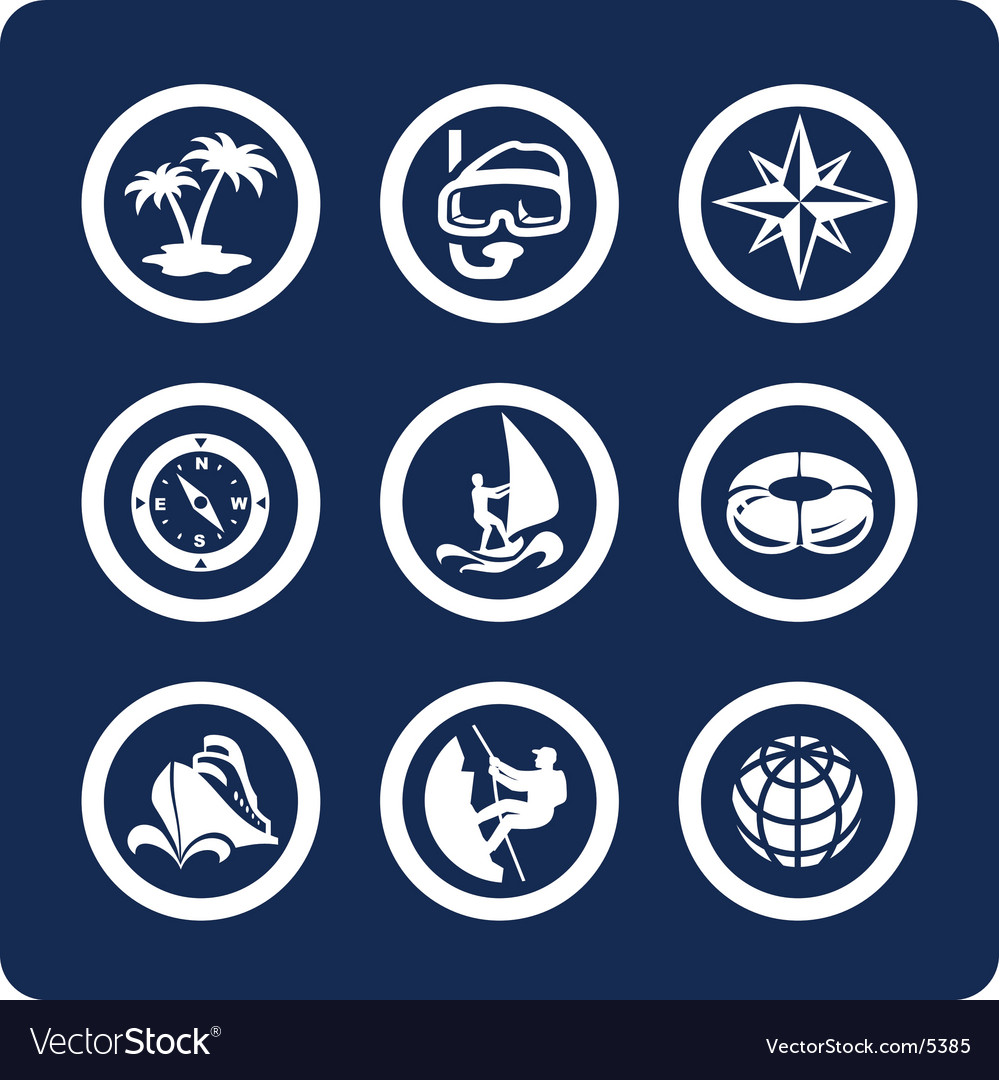 Travel and vacation icons