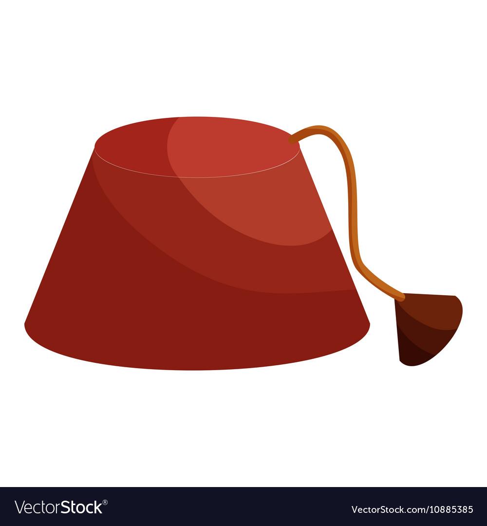 Turkish hat fez icon cartoon style vector image