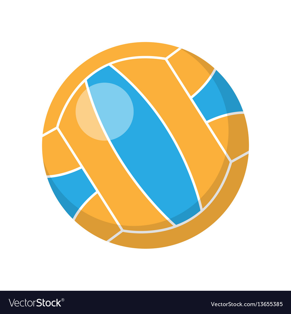 Volleyball in flat design