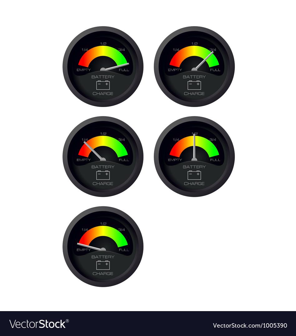 Analog battery indicator vector image