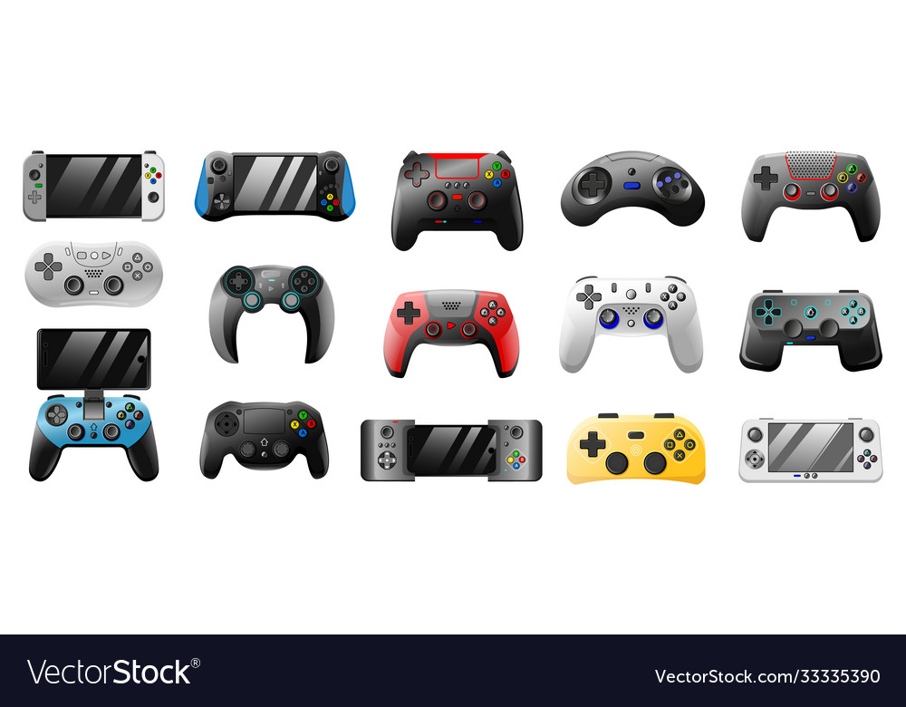 Console gamepad playing joystick pc games