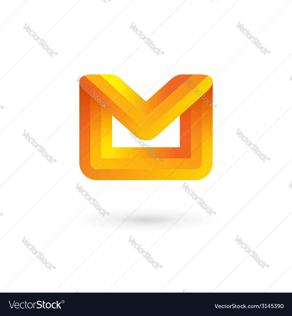 Email Envelope Letter M Logo Icon Design Template - Mail envelope template